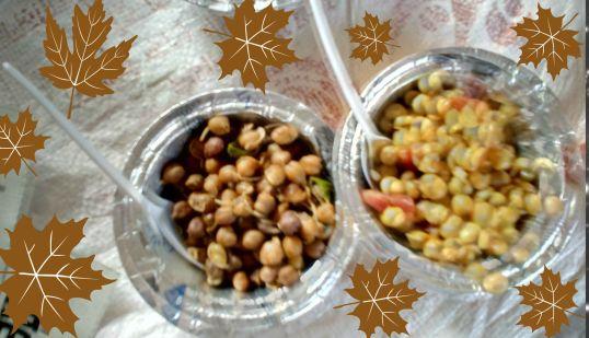 Snacks prepared by the ladies