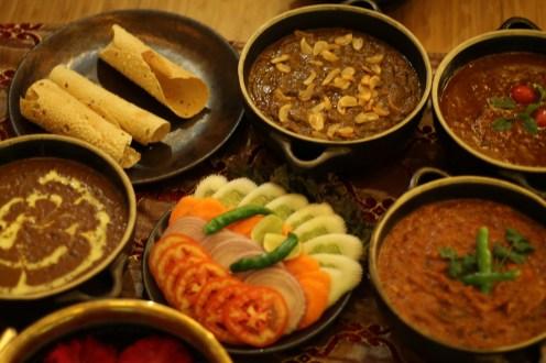 The dinner at Namak