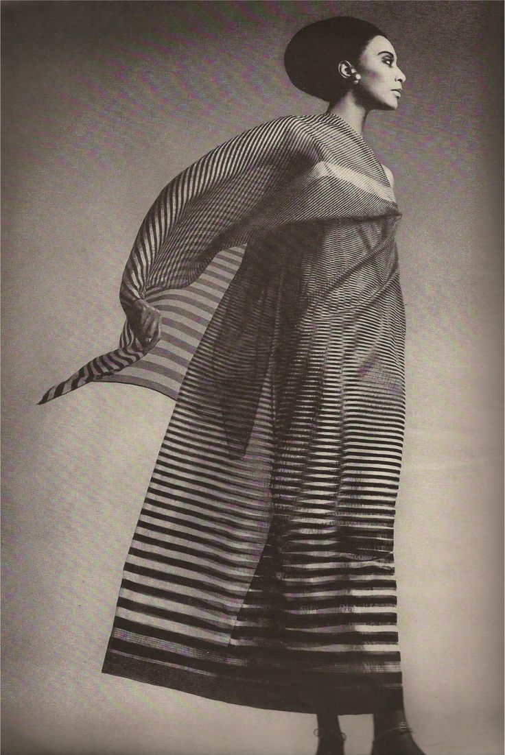 Donyale Luna in Trigere for Harper's Bazaar, April 1965 | photo: Richard Avedon