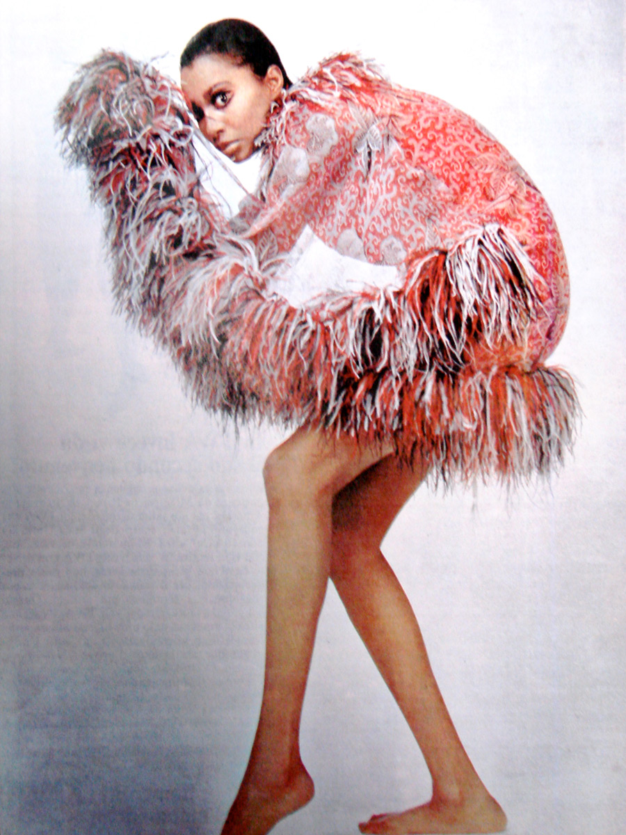 Donyale Luna in Rabanne for Harper's Bazaar, April 1965 | photo: Richard Avedon