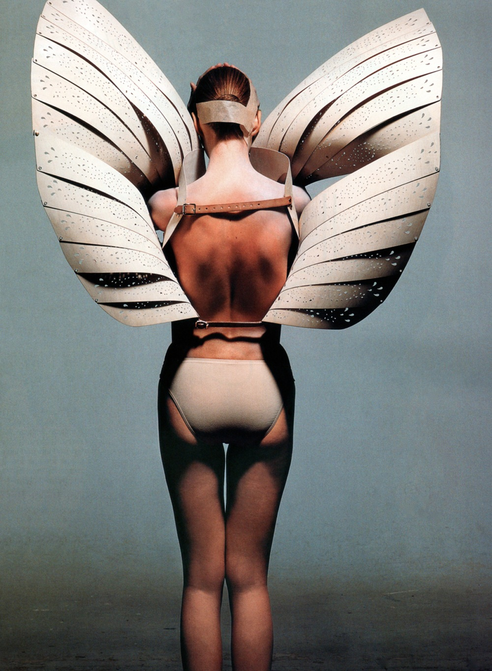 Alexander McQueen S/S 1999 photographed by Irving Penn for Vogue US December 2001