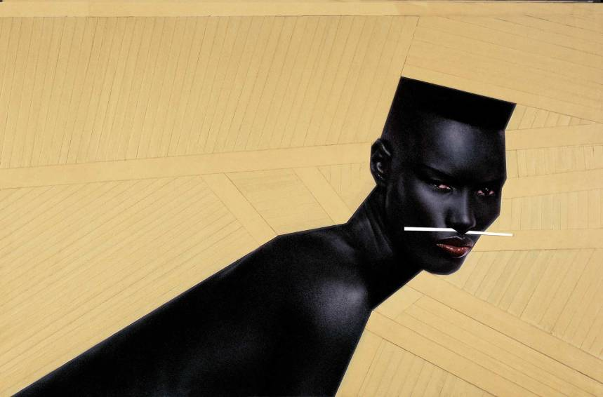 """Cry now, laugh later"" New York (1982), Jean-Paul Goude"