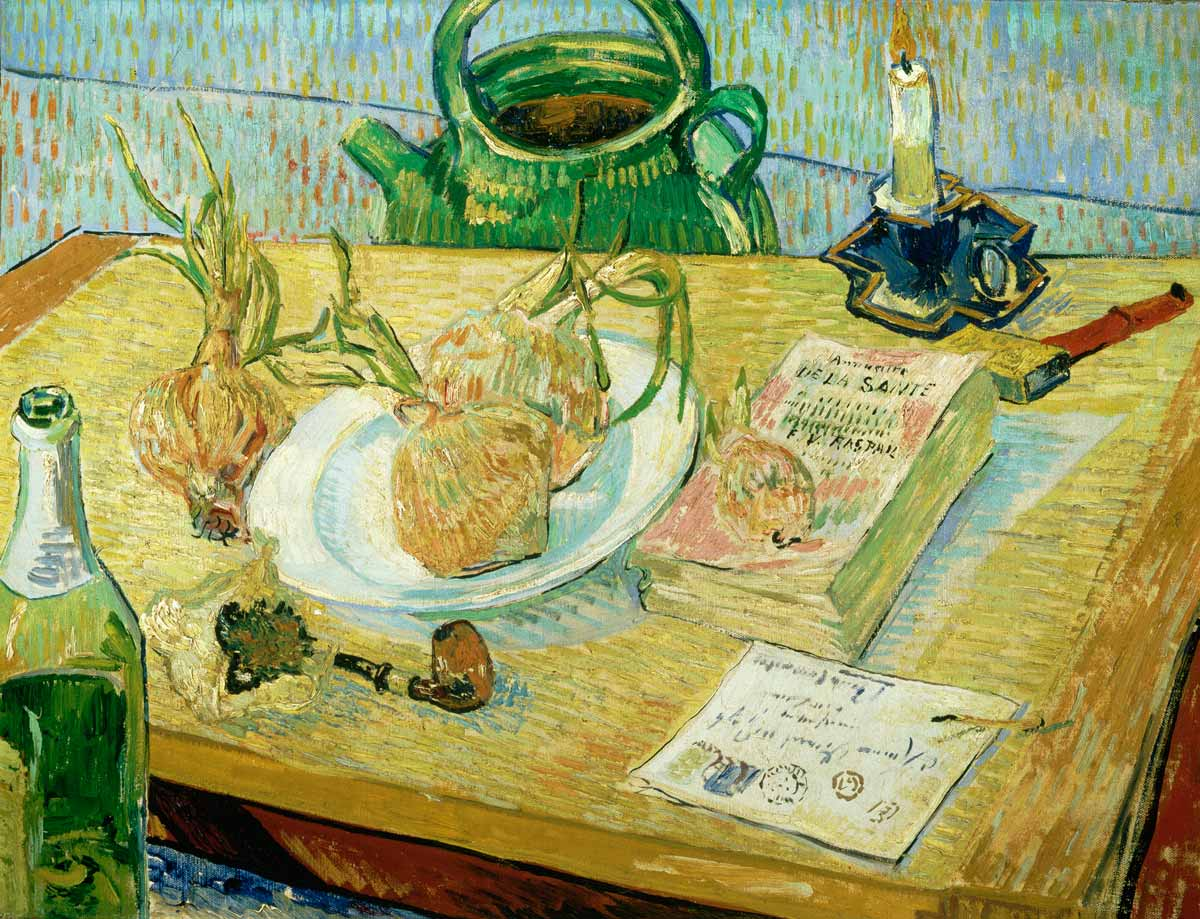 Van Gogh's Still life with a plate of onions, 1889. Photograph: Collection Kröller-Müller Museum, Otterlo/Van Gogh Museum