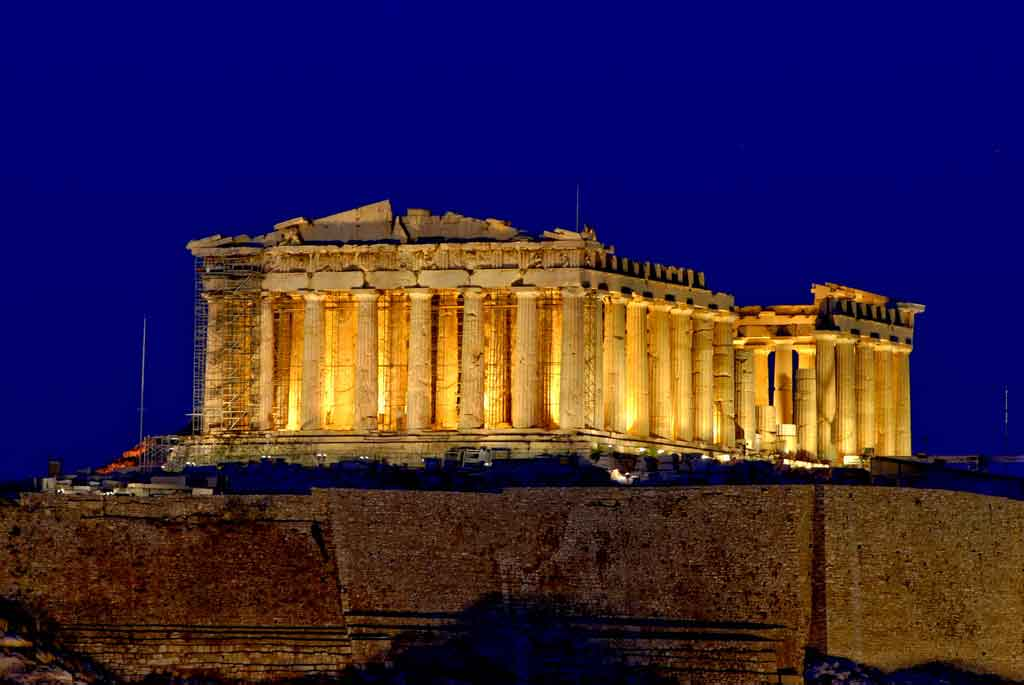 The columns of the Parthenon were built with entasis | source: Konstantinos Dafalias/flickr, CC BY