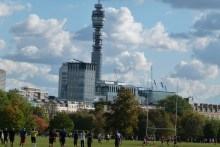 BT Tower overlooking Regent's Park