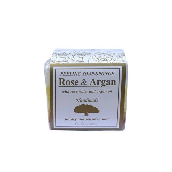Jabón Peeling Rosa y Argán