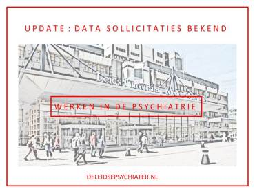 Update: data sollicitaties bekend