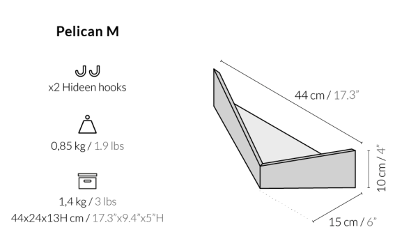 Balda Pelican tamaño mediano de Woodendot
