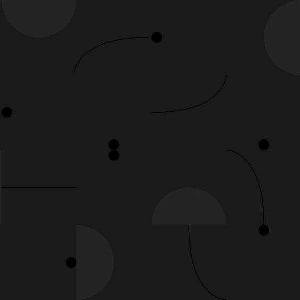 Papel pintado Primitive Roll en fondo negro diseñado por Jaime Hayon para England&Co