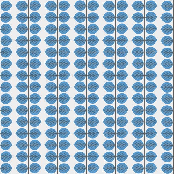 Papel pintado Bersa en color azul de la colección Scandinavian Designers II de Borastapeter