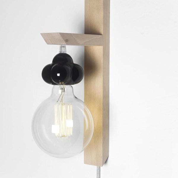 Lámpara Atomo casquillo azul de Juan Ruiz Rivas