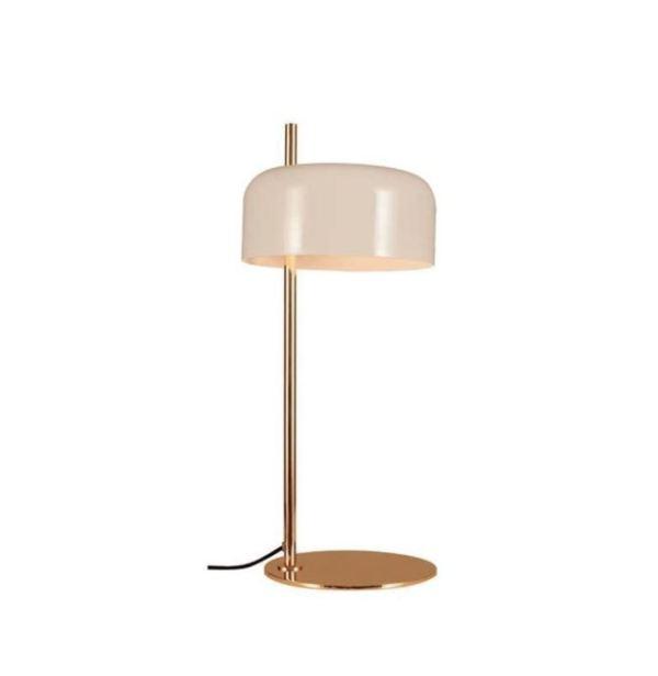 Lámpara de mesa Lalu de Aromas del Campo con pantalla metálica blanca