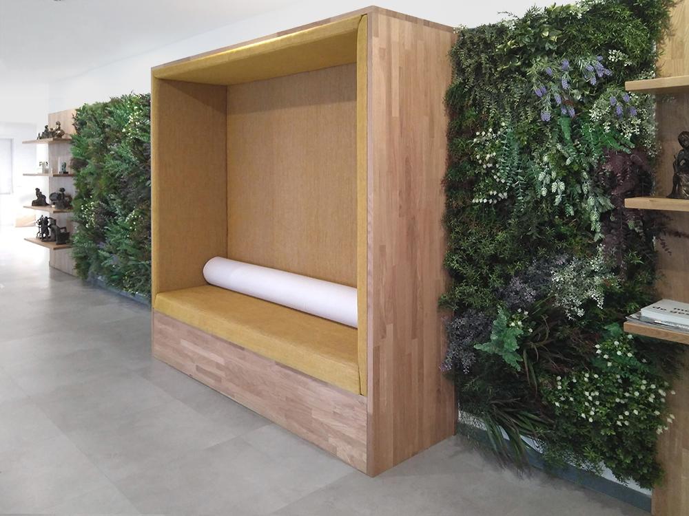 diseño de una sala de espera de una oficina