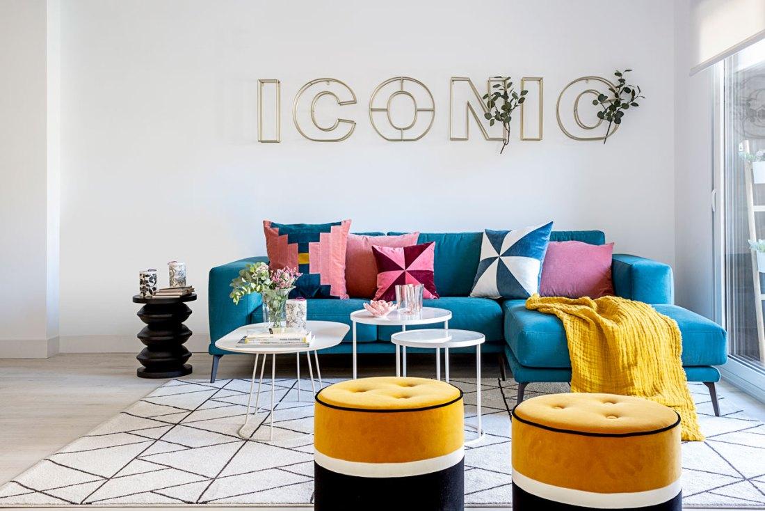 diseño de un salón en un piso reformado integramente por Deleite Design