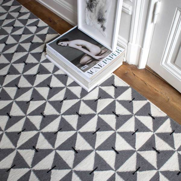 Alfombra de lana Mosaik Gray de Nordic Knots