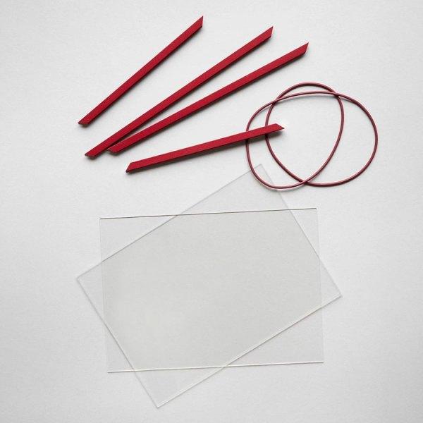 Frame marco de aluminio rojo de Moebe