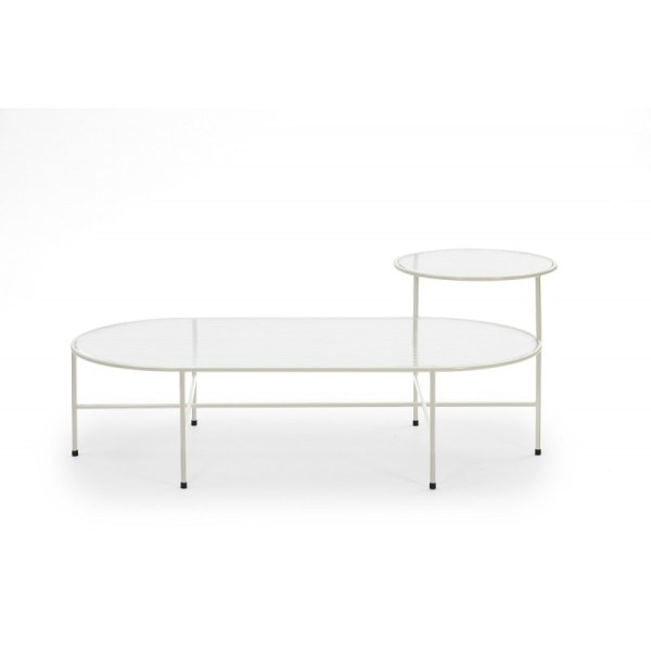 mesa de centro nix en color blanco