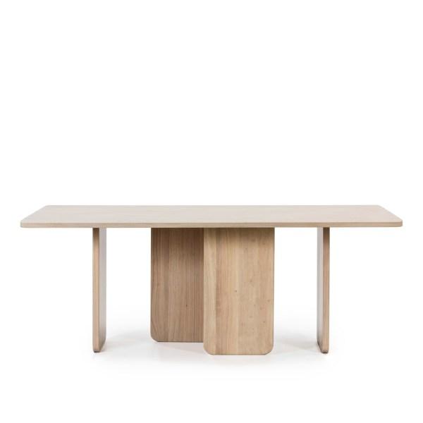 mesa de comedor rectangular de fresno
