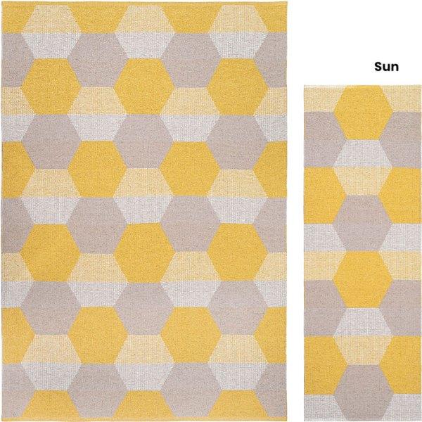 Alfombra de plástico Puck Sun de Brita Sweden
