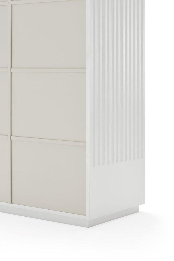 detalle trasera armario Doric blanco de Teulat