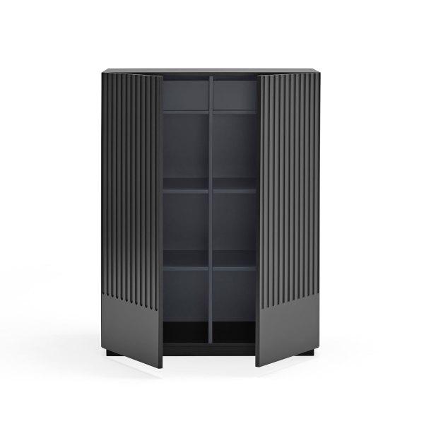 armario Doric negro de Teulat abierto