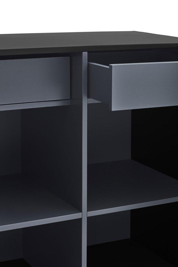 detalle cajón armario Doric negro de Teulat