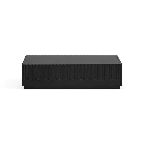 mesa de centro Doric de Teulat en acabado negro