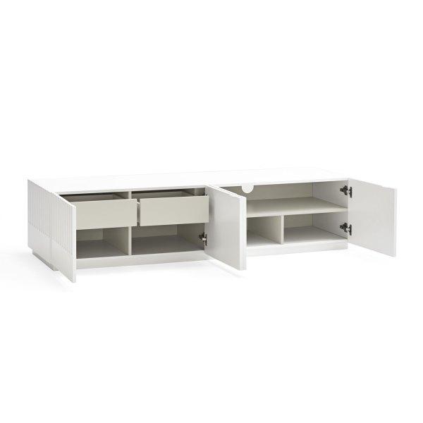 mueble de tv Doric blanco de Teulat abierto