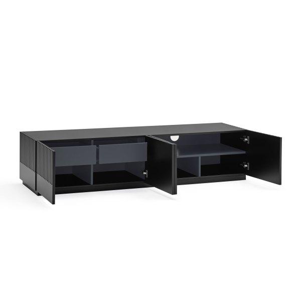 mueble de tv Doric negro de Teulat abierto