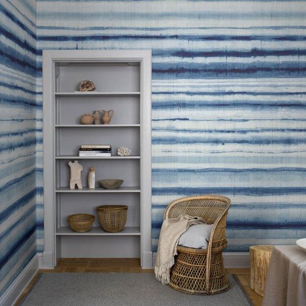 mural habitai stripe en tonos azules