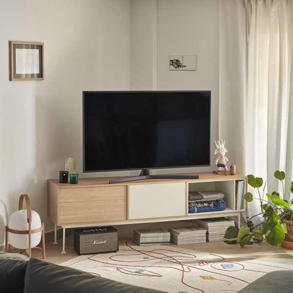 Mueble de tv Yoko crema de Teulat