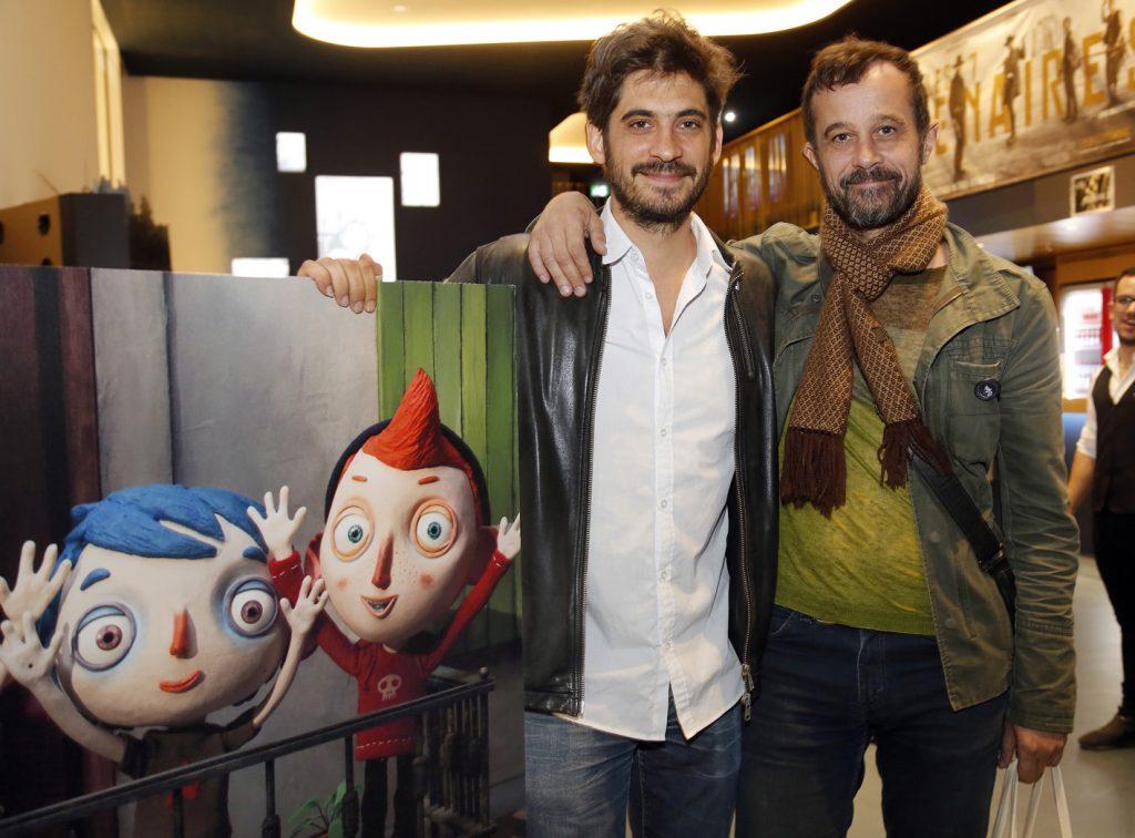 Le festival DelŽmont-Hollywood rŽcompense le film d'animation Ma vie de courgette, DelŽmont 29 septembre 2016. Photo de gauche ˆ droite: Max Karli producteur du film; Claude Barras, rŽalisateur . (Roger Meier)
