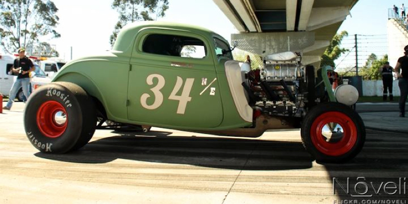 DLEDMV Ford 34 Burn Out NHRA nene08