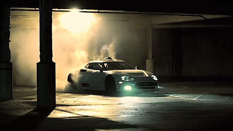 DLEDMV Spyker C8 Burnout 001