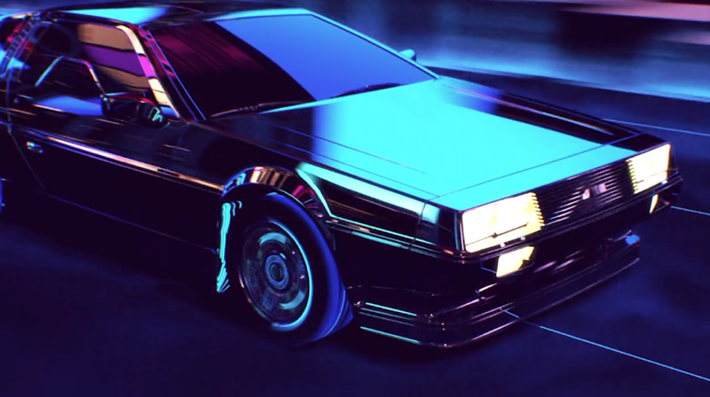 DLEDMV De Lorean Retrowave 003