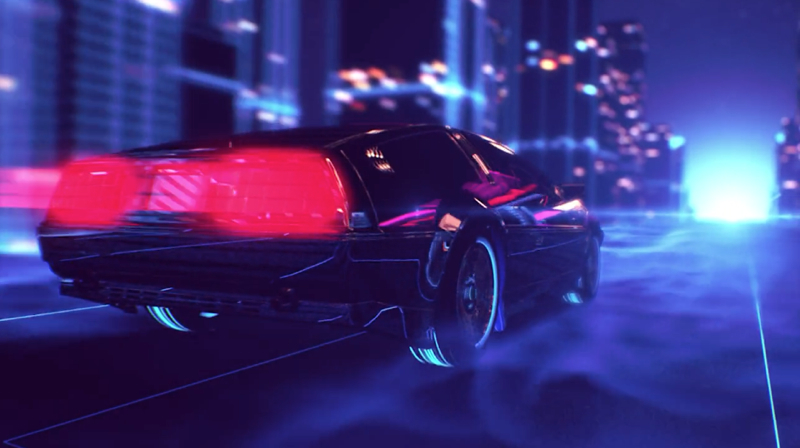 DLEDMV De Lorean Retrowave 004