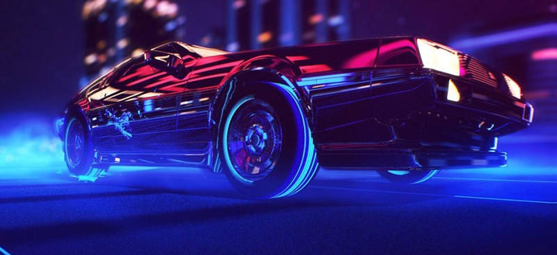 DLEDMV De Lorean Retrowave 01