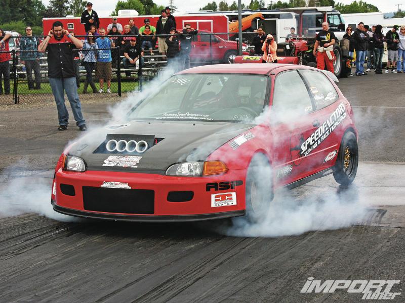 DLEDMV Honda Drag Turbo & flams 08