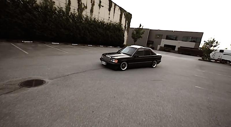 DLEDMV Mercedes 190 H&R & OEM 01