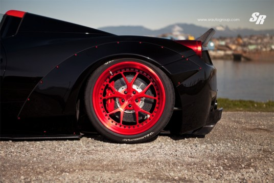DLEDMV Ferrari 458 Spider Liberty Walk Armytrix 03