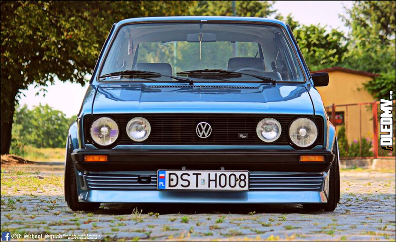 DLEDMV - VW Golf 1 blue full BBS - 13