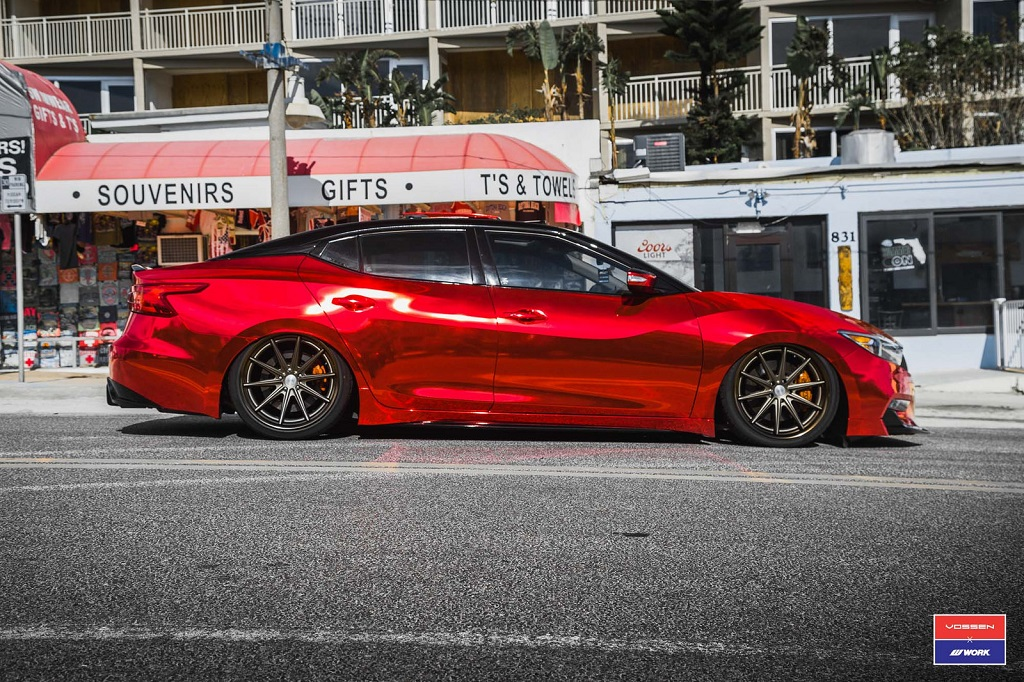 "Nissan Maxima Vossen - ""Red Chrome Bandit"" 16"