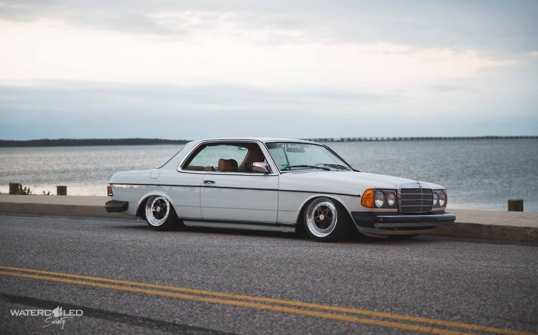 Mercedes 280 CE bagged... My classic is fantastic ! 29
