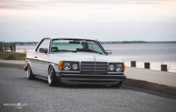 DLEDMV - Bagged W123 Mercedes 280 CE Coupé - 13
