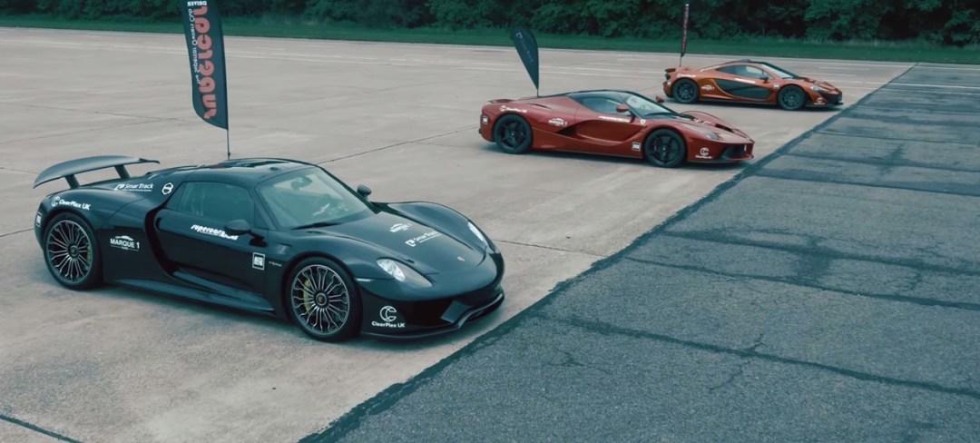 McLaren P1 vs LaFerrari vs Porsche 918 : Le Drag Race encore plus ultime ! 9