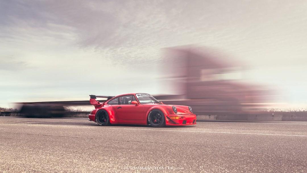 "Seattle Porsche 964 RWB : ""The Lady in red"" 14"
