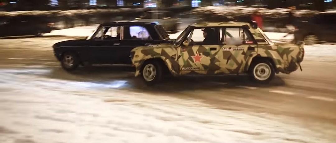 Lada Night Drifting - C'est normal en Russie ! 14
