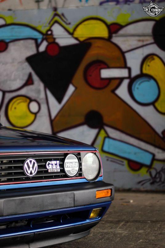 DLEDMV La Volkswagen Golf II swap III GTI de Florian 03