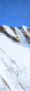 Hors-Piste N°2 - huile sur toile - 30x90cm - collection particulière