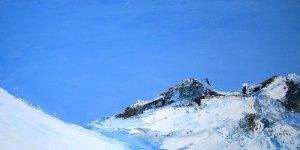 Près du ciel N°2 - huile sur toile - 30x60cm - collection particulière